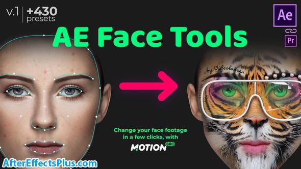 پروژه افتر افکت ابزار تغییر چهره - AE Face Tools