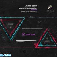 پروژه افتر افکت موزیک پلیر و اکولایزر – Audio React Music Visualizer