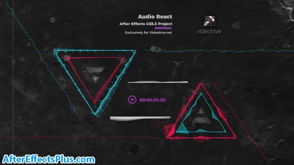 پروژه افتر افکت موزیک پلیر و اکولایزر - Audio React Music Visualizer