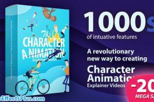 پروژه افتر افکت ابزار ساخت کاراکتر کارتونی – Character Animation Explainer Toolkit