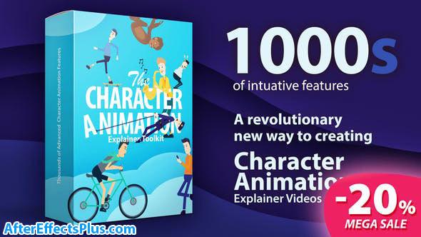 پروژه افتر افکت ابزار ساخت کاراکتر کارتونی - Character Animation Explainer Toolkit