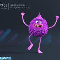 پروژه افتر افکت کاراکتر پشمالو سه بعدی تبلیغاتی – Victor Promotes 3D Character Animation