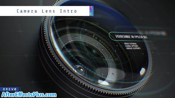 پروژه افتر افکت اینترو با لنز دوربین