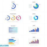 پروژه افتر افکت پکیج نمودار اینفوگرافیک – Infographics Charts Pack