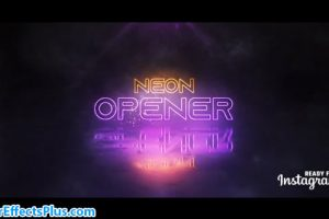 پروژه افتر افکت اینترو و نمایش لوگو نئون – Neon Logo Opener