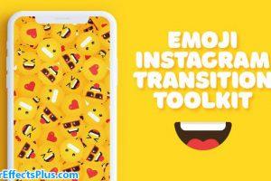 پروژه افتر افکت ابزار ترانزیشن ایموجی اینستاگرام – Emoji Instagram Transition Toolkit