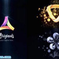 پروژه افتر افکت نمایش لوگو شیشه ای، طلایی و نقره ای – Glossy Silver Gold Logo Reveal