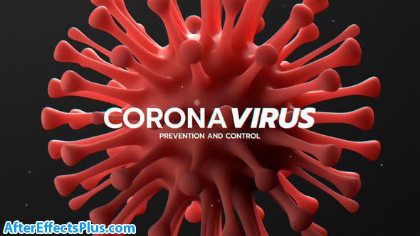 پروژه افتر افکت اینترو کرونا ویروس - Corona Virus Titles