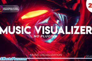 پروژه افتر افکت تونل موزیک ویژوالایزر با موزیک پلیر – Music Visualizer Tunnel with Audio Spectrum