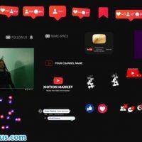 پروژه افتر افکت المنت و ابزار شبکه های اجتماعی – Social Medial Elements
