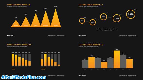 پروژه افتر افکت پرزنتیشن اینفوگرافیک شرکتی - Company Infographics Presentation