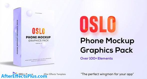 پروژه افتر افکت پکیج گرافیکی موکاپ موبایل - Phone Mockup Graphics Pack