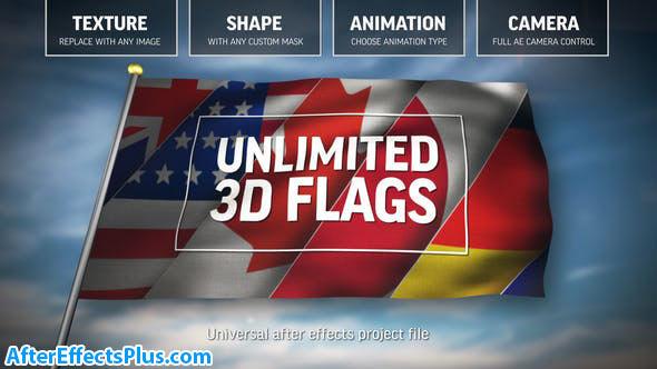 پروژه افتر افکت پرچم انیمیشنی سه بعدی