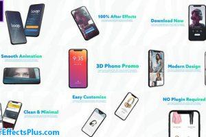 پروژه افتر افکت پرزنتیشن موبایل سه بعدی – 3D Smartphone Presentation