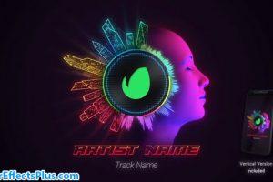 پروژه افتر افکت موزیک اکولایزر با افکت نئون – Neon Audio Visualiser