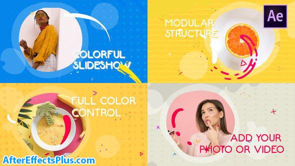 پروژه افتر افکت اسلایدشو مایع رنگارنگ