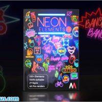 پروژه افتر افکت ابزار نئون – Neon Elements