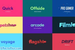 پروژه افتر افکت نمایش لوگو تایپ سه بعدی سریع – Quick 3D Logo