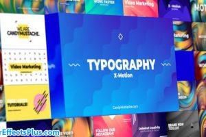 پروژه افتر افکت تایپوگرافی متحرک – X-Motion | Typography