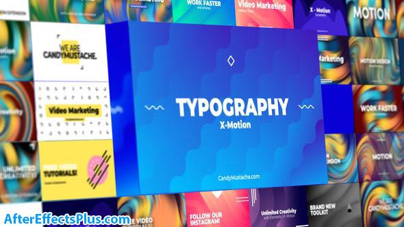 پروژه افتر افکت تایپوگرافی متحرک - X-Motion | Typography