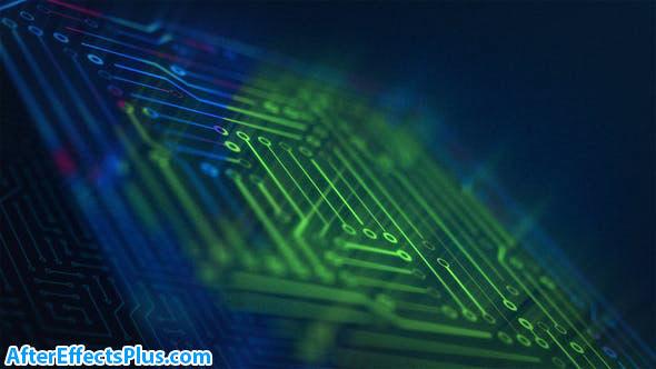 پروژه افتر افکت نمایش لوگو با چیپست سخت افزار - Fast Tech Chip Logo Opener Intro