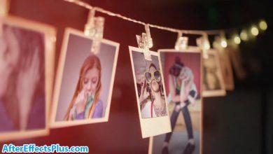 پروژه افتر افکت اسلایدشو فریم عکس روی طناب - Picture Frames Slideshow