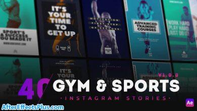 پروژه افتر افکت 40 استوری اینستاگرام برای باشگاه - 40 GYM & Sports Instagram Story