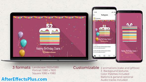 پروژه افتر افکت تبریک تولد با کیک جشن تولد