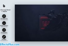 دانلود پروژه افتر افکت نمایش لوگو در تاریکی - Dark Tear Logo Reveal