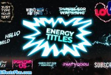پروژه افتر افکت پکیج متن انیمیشنی کارتونی - Energy Titles Pack