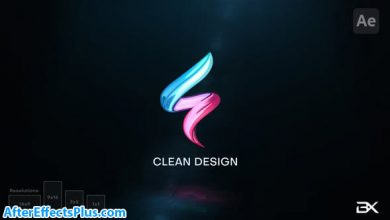 پروژه افتر افکت نمایش لوگو مینیمال درخشان - Minimal Logo