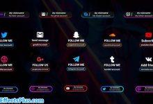 پروژه افتر افکت پکیج بزرگ زیرنویس شبکه های اجتماعی - Social Media Lower Third Big Pack