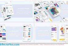 پروژه افتر افکت تیزر تبلیغاتی اپلیکیشن موبایل رنگ سفید - White App Promo