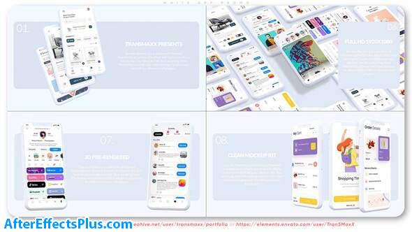 پروژه افتر افکت تیزر تبلیغاتی اپلیکیشن موبایل