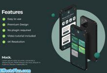 پروژه افتر افکت موکاپ اپلیکیشن موبایل آیفون - Universal App Mockup