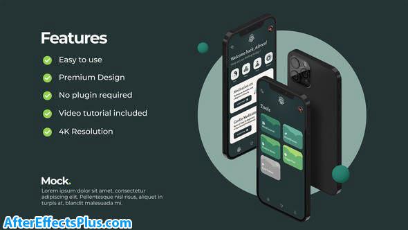 پروژه افتر افکت موکاپ اپلیکیشن موبایل آیفون